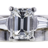 1.51 ct. Emerald Cut Bridal Set Ring, G, VVS2 #4
