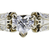 0.52 ct. Heart Cut Bridal Set Ring, E, IF #2