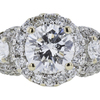 1.05 ct. Round Cut 3 Stone Ring, D, SI2 #4