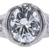 0.95 ct. Round Cut Bridal Set Ring, I-J, I1 #1
