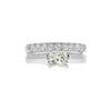 1.0 ct. Princess Cut Bridal Set Ring, M, VVS1 #3