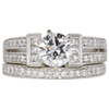 0.89 ct. Round Cut Bridal Set Ring, E, VS2 #4