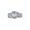 0.91 ct. Round Cut Bridal Set Ring, J, SI2 #3