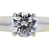 1.02 ct. Round Cut Solitaire Ring, E, I1 #4