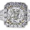 1.20 ct. Cushion Cut Halo Ring, H, I1 #1