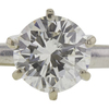 Art Deco GIA 1.08 ct. Round Cut Central Cluster Ring, J, VS2 #4