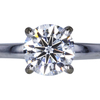 1.00 ct. Round Cut Solitaire Ring, F, VS2 #3