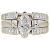 1.05 ct. Marquise Cut Bridal Set Ring, G-H, I1 #1