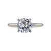 1.56 ct. Round Cut Solitaire Ring, G, SI2 #1