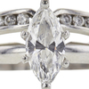 0.88 ct. Marquise Cut Bridal Set Ring, F-G, SI1-SI2 #1