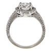 1.71 ct. Round Cut Halo Ring, G, I1 #4
