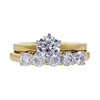 1.00 ct. Round Cut Bridal Set Ring, F, SI1 #3