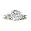1.4 ct. Round Cut Bridal Set Ring, F, I1 #3