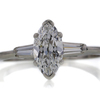 1.04 ct. Marquise Cut Bridal Set Ring #1