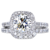 2.11 ct. Round Cut Bridal Set Ring, J, SI2 #1