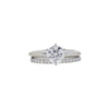 1.01 ct. Round Cut Bridal Set Ring, F, VVS2 #3