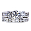 0.79 ct. Round Cut Bridal Set Ring, D, VS2 #3