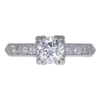 0.72 ct. Round Cut Bridal Set Ring, H-I, VS2-SI1 #2