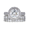 1.62 ct. Round Cut Bridal Set Ring, H, SI1 #3