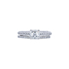 1.10 ct. Asscher Cut Bridal Set Ring, F, VS2 #3