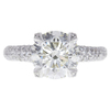 2.7 ct. Round Cut Central Cluster Ring, K, I1 #2