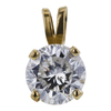 1.11 ct. Round Cut Pendant Necklace, G, I1 #4