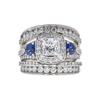 1.2 ct. Princess Cut Bridal Set Ring, E, I1 #3