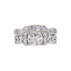 1.28 ct. Round Cut Central Cluster Ring, J, SI1 #3
