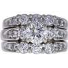 0.97 ct. Round Modified Brilliant Cut Bridal Set Ring, F, SI2 #3