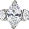1.04 ct. Marquise Cut 3 Stone Ring, J, SI2 #4