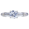 1.02 ct. Round Cut Solitaire Ring, H, SI2 #1