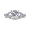 1.26 ct. Round Cut Bridal Set Ring, H, SI2 #3