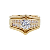 0.83 ct. Round Cut Bridal Set Ring, J, SI2 #2