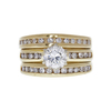 1.05 ct. Round Cut Bridal Set Ring, J, I1 #3
