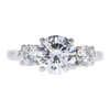 1.58 ct. Round Cut 3 Stone Ring, H, SI1 #3