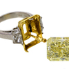 10.01 ct. Radiant Cut 3 Stone Ring #4