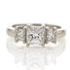1.02 ct. Princess Cut 3 Stone Ring #3
