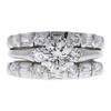 0.85 ct. Round Cut Bridal Set Ring, I, SI2 #3