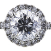 1.43 ct. Round Cut Bridal Set Ring, E-F, I1 #1