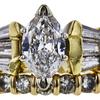 0.81 ct. Marquise Cut Bridal Set Ring, E, VS2 #4