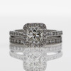 1.0 ct. Radiant Cut Bridal Set Ring #2