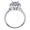 1.14 ct. Princess Cut Halo Ring, G-H, I1 #1