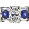 0.98 ct. Radiant Cut 3 Stone Ring, H, SI2 #4