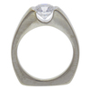 1.06 ct. Round Cut Bridal Set Ring, E-F, SI1 #3