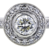 0.65 ct. Round Cut Bridal Set Ring, K-L, SI1 #1