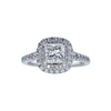0.98 ct. Princess Cut Halo Ring, J, SI1 #3