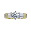 0.88 ct. Round Cut 3 Stone Ring, J, SI2 #2