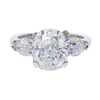 3.7 ct. Cushion Cut 3 Stone Ring, E, VVS2 #3
