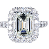 4.01 ct. Emerald Cut Halo Ring #3