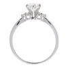0.72 ct. Round Cut Bridal Set Ring, F, I1 #4